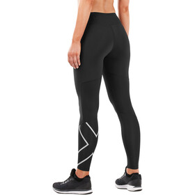 2XU Run Mid Rise Compression Cuissard Femme, black/silver reflective